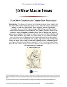 50 New Magic Items - World Builder Blog Presents