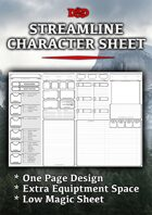 Streamlined Character Sheet (5e)