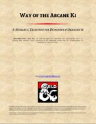 Way of the Arcane Ki