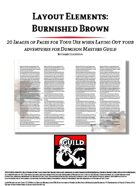 Layout Elements: Burnished Brown