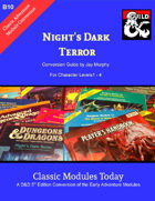 Classic Modules Today: B10 Night's Dark Terror 5e