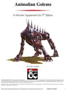 [5e] Monster Statblocks: Animalian Golems