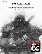 ART003HD Male Mountain Dwarf Fighter Stock Art (Hand Drawn Style)