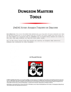 Dungeon Master Tools: DnDAL Story Awards Tyranny of Dragons