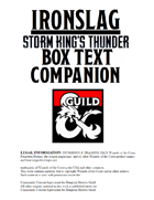 Ironslag - Box Text Companion - Storm King's Thunder