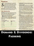 Demand & Dividends: Farming