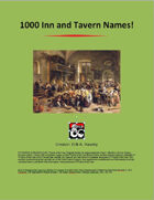 1000 Inn and Tavern Names