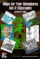Maps for your Adventures Set 3: Cityscapes