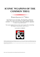 Iconic Weapons of the Common Thug - Fantasy Grounds