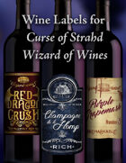 Curse of Strahd: Wizard of Wines Labels Wine Labels for Ravenloft