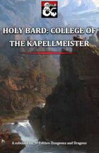 Holy Bard: College of the Kapellmeister and Amped Up Feat
