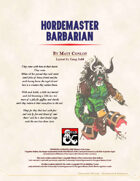 Barbarian Path: Hordemaster