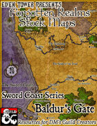 Baldur's Gate Area - Forgotten Realms Stock Maps