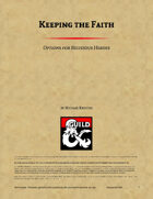 Keeping the Faith Vol 1 - Options for Religious Heroes