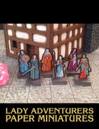 Lady Adventurers Paper Miniatures