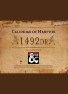 Calendar of Harptos - 1492 DR (Full Color edition)