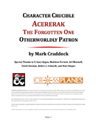 Character Crucible: Acererak (A Warlock Otherworldy Patron for 5E)