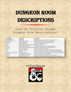 Dungeon Room Descriptions (PDF/XLSX)