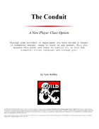 The Conduit - New Class for 5e D&D