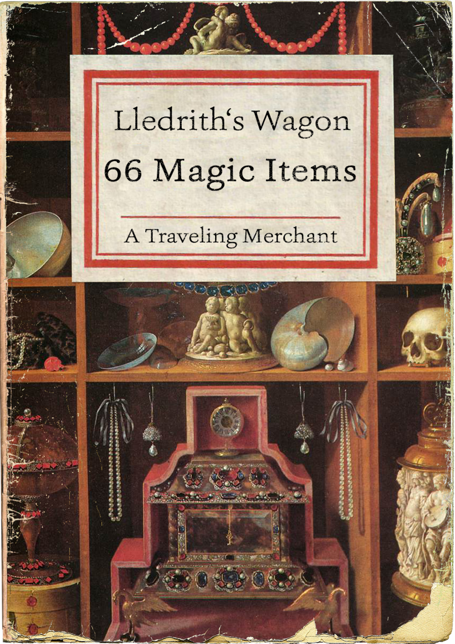 Lledrith's Wagon with 60 magic items!