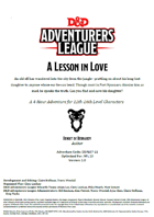 DDAL07-11 A Lesson in Love (5e)