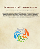 Brotherhood of Elemental Affinity: A set of 5e Monk Sub-classes
