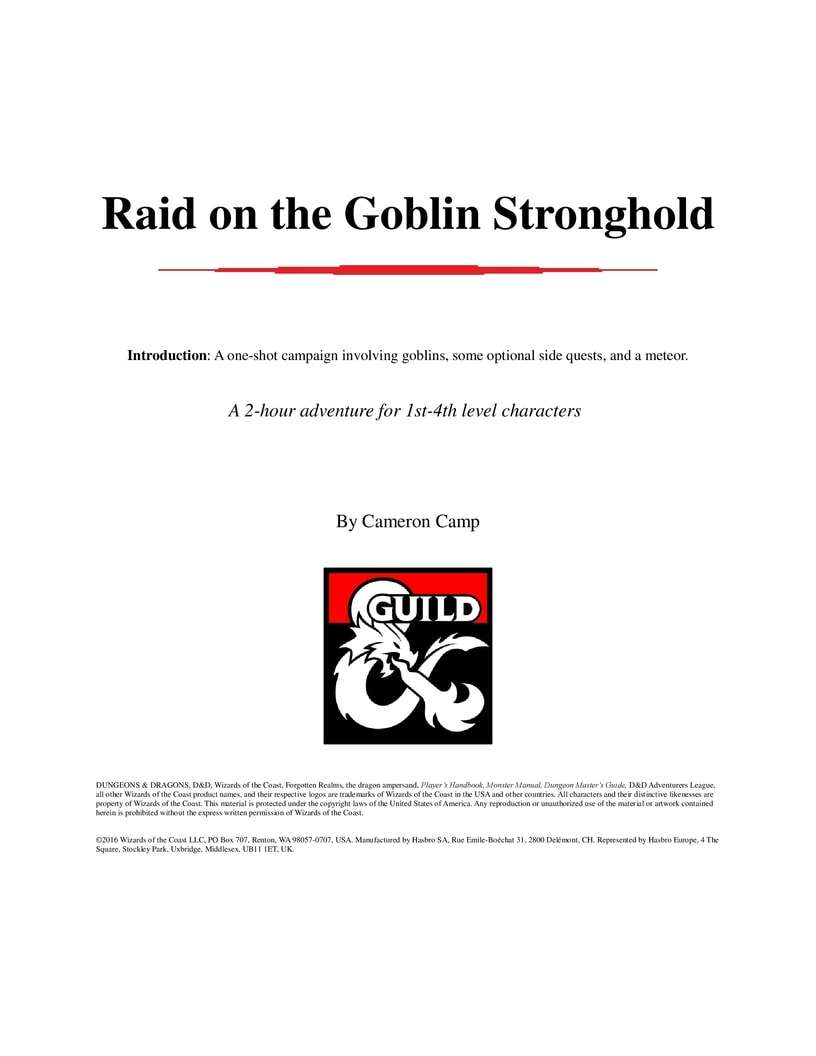 Raid on the Goblin Stronghold