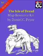 DM Notes & Maps for Isle of Dread Maps (X1)