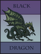 Black Dragon Paper Miniature