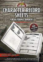 Character Record Sheets for A6 Format Binders
