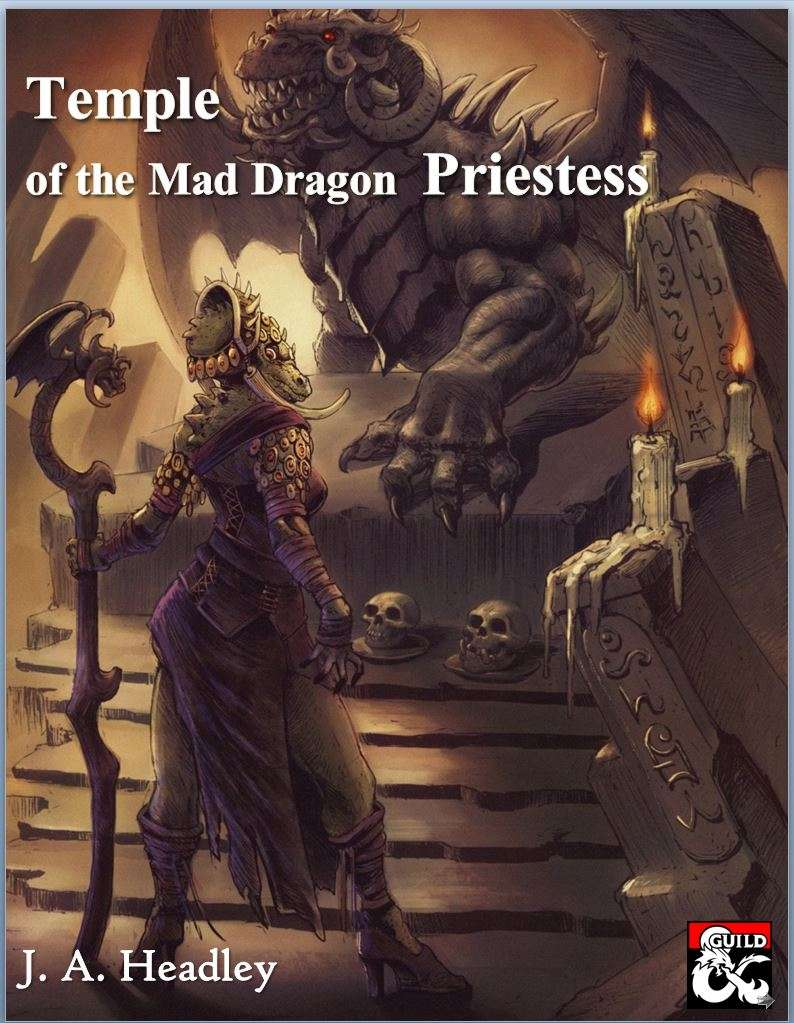 Cover of Temple of the Mad Dragon Priestess