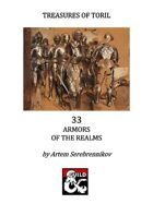 Treasures of Toril: 33 Armors of the Realms