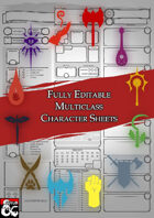 Editable Class Character Sheets - The Multiclass