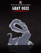 Gray Ooze Paper Miniature