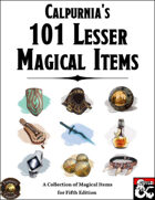 Calpurnia's 101 Lesser Magical Items (Fantasy Grounds)