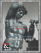 The Lost Monastery of Thalius Dorn