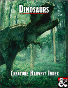 Creature Harvest Index - Dinosaurs