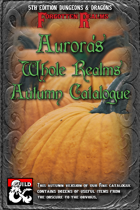 Aurora's Whole Realms Autumn Catalogue