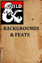 Backgrounds & Feats 1.0