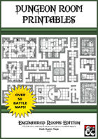 Dungeon Room Printables - Engineered Rooms Edition - Book 1