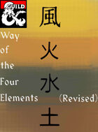 Way of the Four Elements (Revised D&D 5e Monk Subclass)