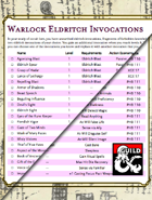 Warlock Eldritch Invocations List