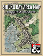 Shilku Bay Area Map - Forgotten Realms Stock Maps