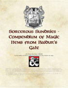 Sorcerous Sundries - Compendium of Magic Items from Baldur's Gate