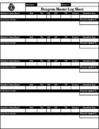AL Season 8 DM Log Sheet and Quest Tracker