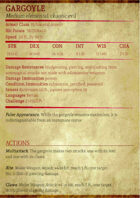 5e Monster Stat Block (.XCF)
