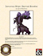 Sorcerous Origin: Aberrant Bloodline (Fantasy Grounds)