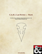 C.A.R.L Lab Notes 1:- Feats for Casters