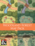 Woodland Forest Map Pack (Five 5x5 Tiles) Dungeon Squares