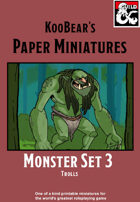 Monster Set 3 Trolls - KooBear's Paper Miniatures